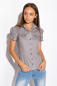 Рубашка женская 118P002 (Стальной)