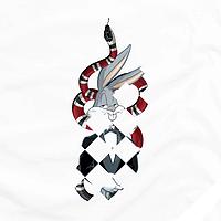 Термоперевод на верхнюю одежду Кролик Банни [Свой размер и материалы в ассортименте]