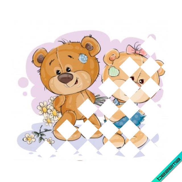 Термонаклейки на ветровки Медвежата [Свой размер и материалы в ассортименте]