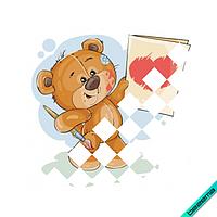 Термопечать на блузы термо Медвежонок [Свой размер и материалы в ассортименте]