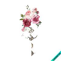 Аппликация, наклейка на ботинки Розы с ключем [Свой размер и материалы в ассортименте]