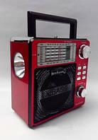 Радиоприёмник с фонарём KN-893, аналоговый тюнер, УКВ/КВ/СВ, поддержка USB и SD/MMS карт, микрофонный разъем