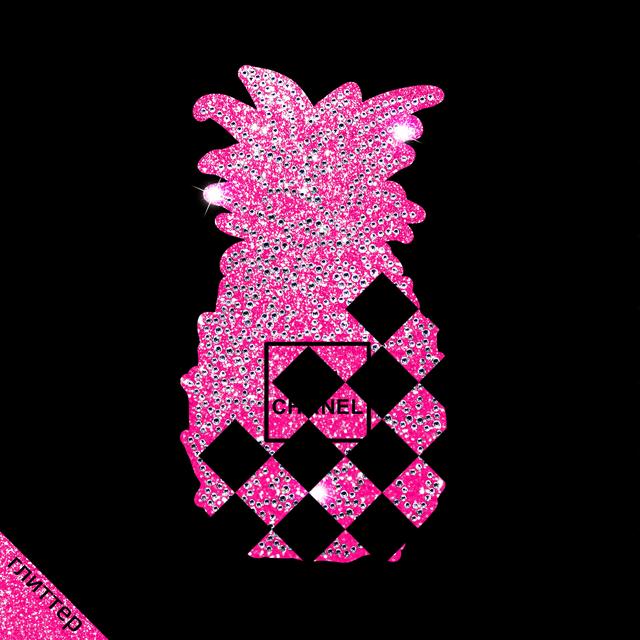 Картинки зі страз на сабо Ананас (ss6 кристал, ss10 кристал)