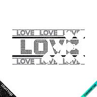 Термонаклейки на пижамы Love (ss6 черный, ss16 гематит)