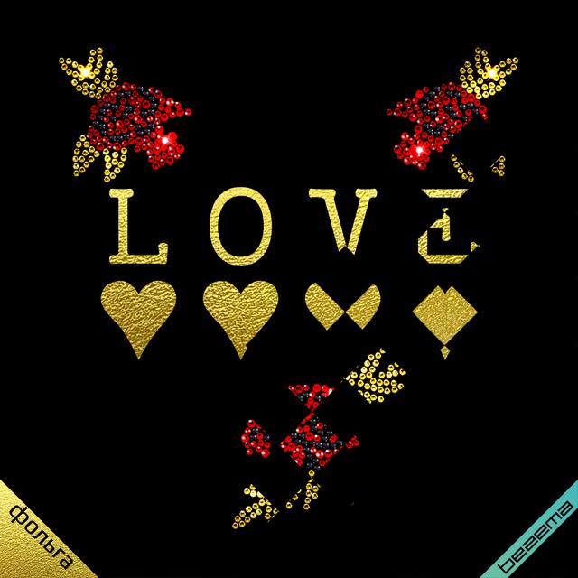 Термодрук на черевики Lone з трояндами (ss6 золото, ss6 чорний, ss6 червоний, ss10 червоний)