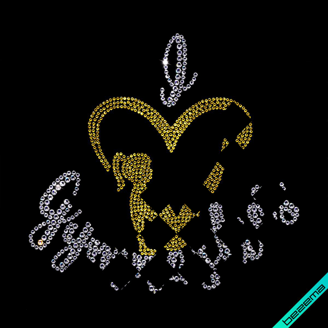 Декор из страз на папки Логотип (Стекло, 2мм фуксия, 4мм кристалл, 2.8мм кристалл)