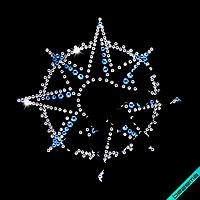 Термопринты на кардигани Зірка (Скло, ss6 кристал, ss10 сапфір, ss16 сапфір)