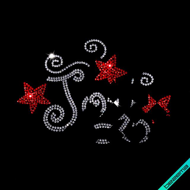 Дизайн зі страз на сатин Joy (Скло, ss6 кристал, ss6 чорний)