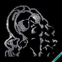 Аппликации на сапоги Девушка (Стекло, ss6 кристалл)