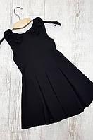 Сарафан девочка цветочек черный размер 116
