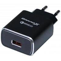 Зарядное устройство Grand-X Quick Charge QС3.0 3.6V-6.5V 3A, 6.5V-9V 2A, 9V-12V 1.5A USB (CH-750B)
