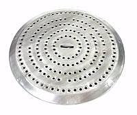 Пламярассекатель берет на себя основной жар газа и не воздействует на кастрюли (другую посуду) напрямую, не да
