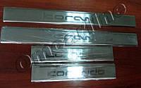 Накладки на пороги ssangyong Korando (ссангйонг корандо), 4 шт. логотип гравировкой, нерж., фото 1