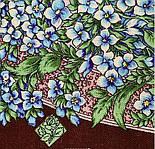 Белой ночи кружевные сны 1844-17, павлопосадский платок шерстяной  с шелковой бахромой, фото 4