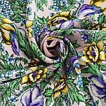 Белой ночи кружевные сны 1844-17, павлопосадский платок шерстяной  с шелковой бахромой, фото 9
