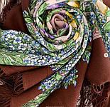 Белой ночи кружевные сны 1844-17, павлопосадский платок шерстяной  с шелковой бахромой, фото 6