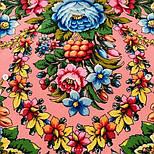 Павловопосадский 1816-3, павлопосадский платок (шаль) из уплотненной шерсти с шелковой вязанной бахромой, фото 6
