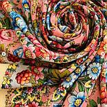 Павловопосадский 1816-3, павлопосадский платок (шаль) из уплотненной шерсти с шелковой вязанной бахромой, фото 10