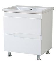 Комплект мебели для ванной комнаты Симпл-Белый 80-30-80-04-40-11 с зеркалом и пеналом  ПИК, фото 3