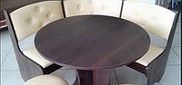 Кухонный уголок Боярин с круглым столом +табурети