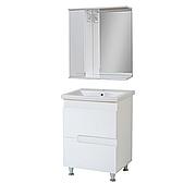 Комплект мебели для ванной комнаты Симпл-Белый 60-30-60-17 с зеркалом ПИК
