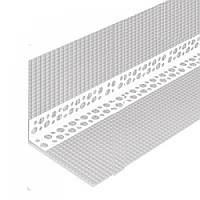 Профиль угловой перфорированный с сеткой 10х10 пластиковый, 3м