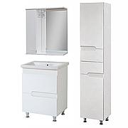 Комплект мебели для ванной комнаты Симпл-Белый 60-30-60-17-40-11 с зеркалом и пеналом ПИК