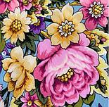Павловопосадский 1816-2, павлопосадский платок (шаль) из уплотненной шерсти с шелковой вязанной бахромой, фото 6