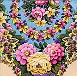 Павловопосадский 1816-2, павлопосадский платок (шаль) из уплотненной шерсти с шелковой вязанной бахромой, фото 8