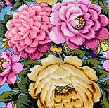 Павловопосадский 1816-2, павлопосадский платок (шаль) из уплотненной шерсти с шелковой вязанной бахромой, фото 9