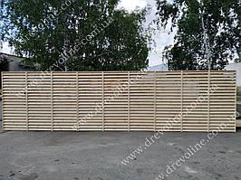 Жалюзи забор из дерева