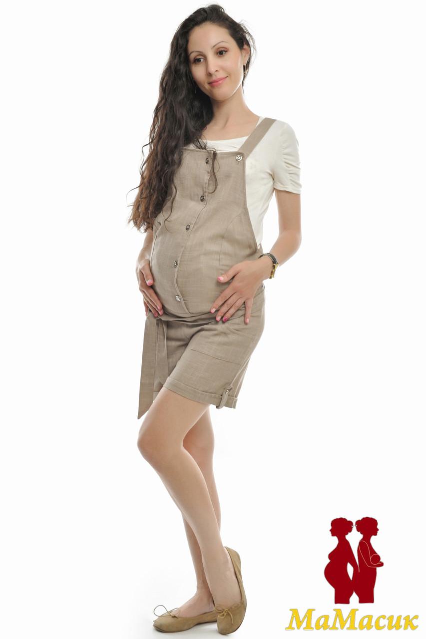 193aac54faf5 Льняной комбинезон для будущих мам - HAPPY MAMA - одежда для беременных и  кормящих, одежда