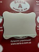 Зеркало в ванную оригинальной формы с полочкой  №27/Дюбель в Подарок
