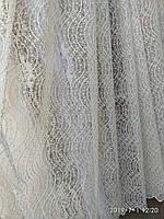 Тюль турецкая занавески портьеры шторы ширина 290 см сублимация крапочка цвет шампань, фото 1