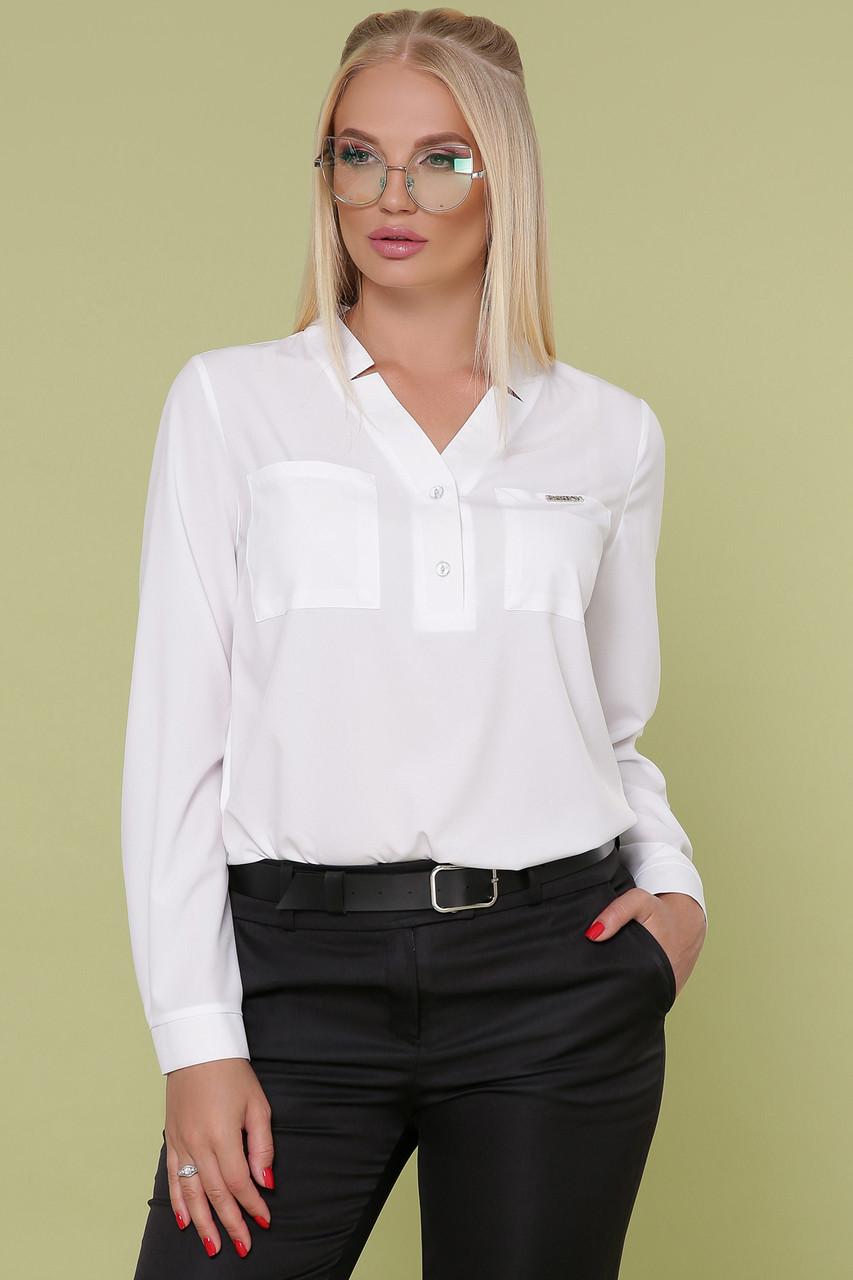 Женская блуза белая Жанна-Б д/р