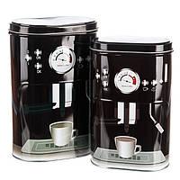 Набор металлических банок для кофе и чая (2 шт.)