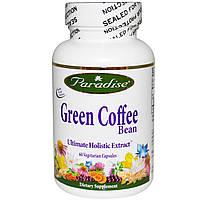 Кофе для похудения зеленый  Paradise Herbs 800 мг 60 капсул