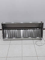 Вытяжной зонтс жироулавливателями1500х600х400 (с канальным вентилятором), фото 1