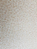 Виниловые обои на флизелиновой основе Ugepa Kinetic J312-17 бежевые  точки маленькие круги серебряные 3d