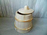 Дерев'яна бочечка з кришкою 14*21 см Деревянная бочечка с крышкой
