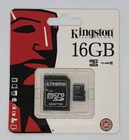 Карта памяти micro KINGSTON 16GB (c адаптером)