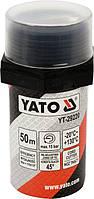Нитка уплотнительная резьбовых соединений 50 м для давления ≤ 15 Bar в капсуле Yato YT-29220