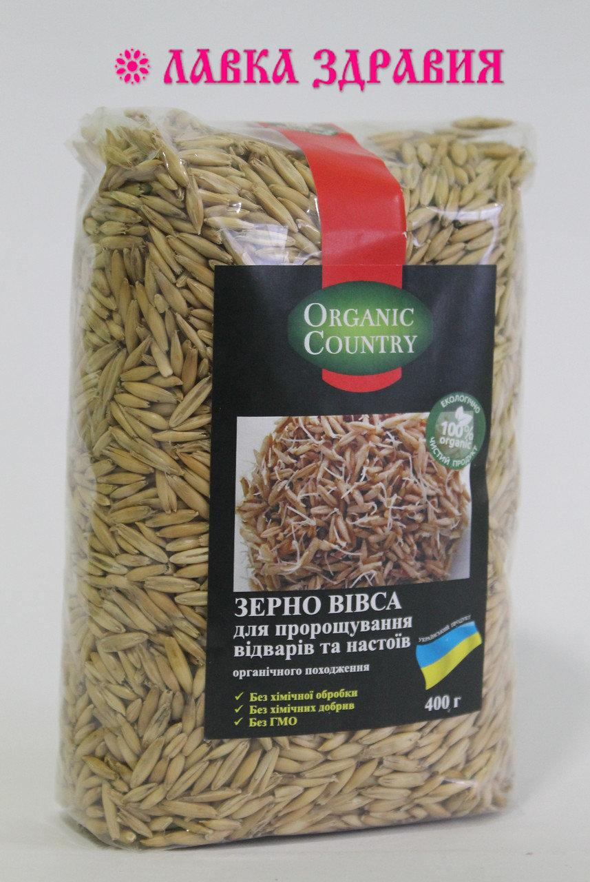 Зерно овса неочищенное органическое, 400 г, Organic Country