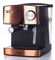 Рожковая кофеварка эспрессо ADLER AD 4404 CR (COPPER)