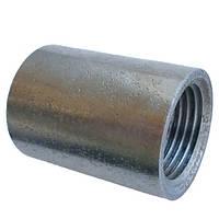 Муфта стальная оцинкованная Ду 32*15