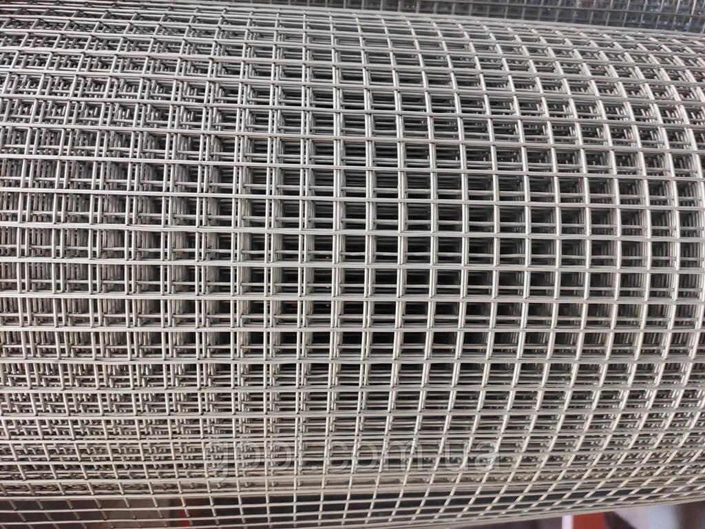 Сетка штукатурная сварная металлическая оцинкованная размер ячейки 25х25 мм. 1х30 м.п. 1,4 мм. толщина прута