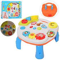 Игровой центр столик 28-16см, развивающий музыкальный столик для малышей, трещотка, музыка, звук, свет, 3901