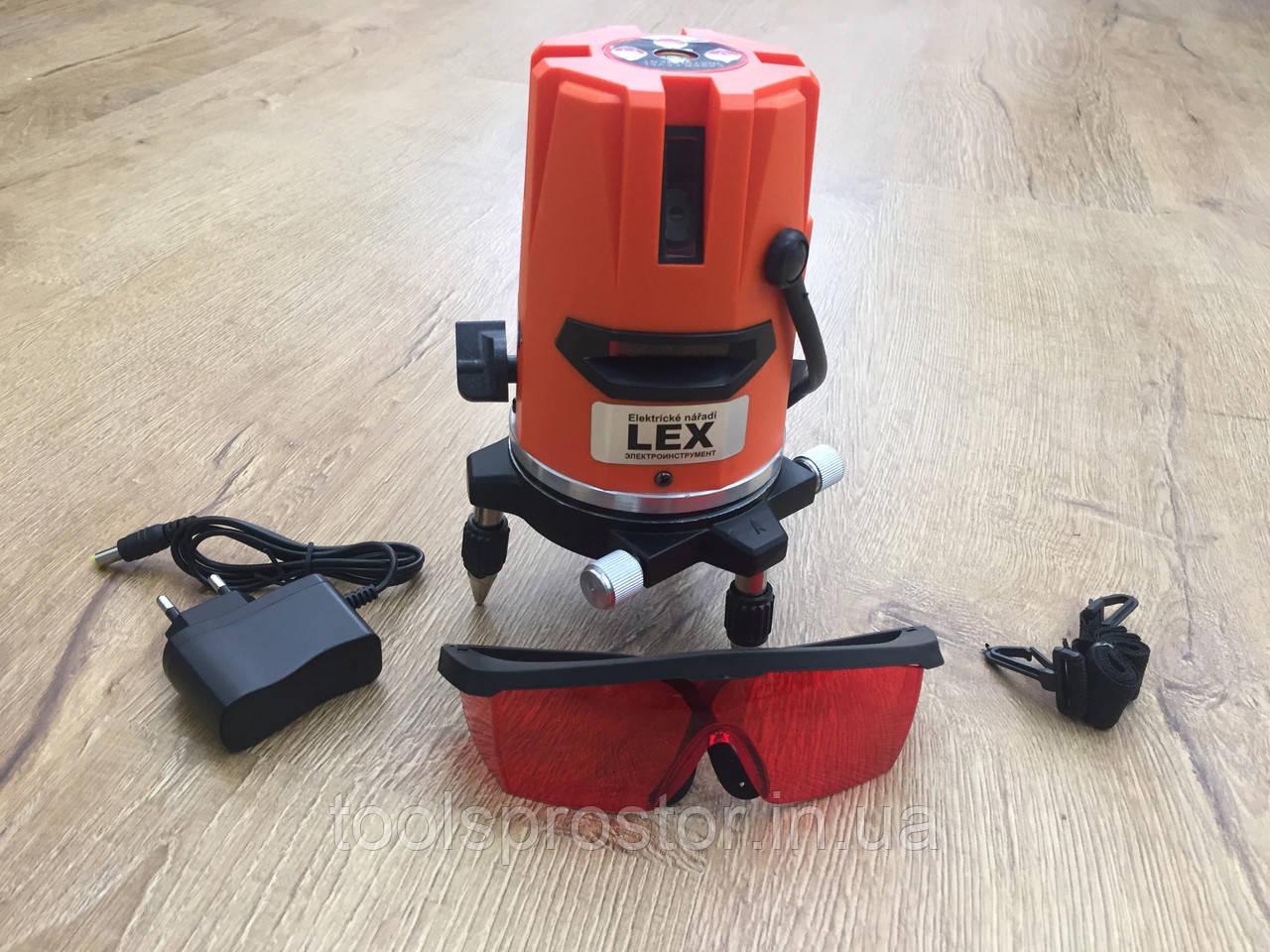 Лазерный уровень, нивелир LEX LXNL01 : 5 линий + штатив в комплекте