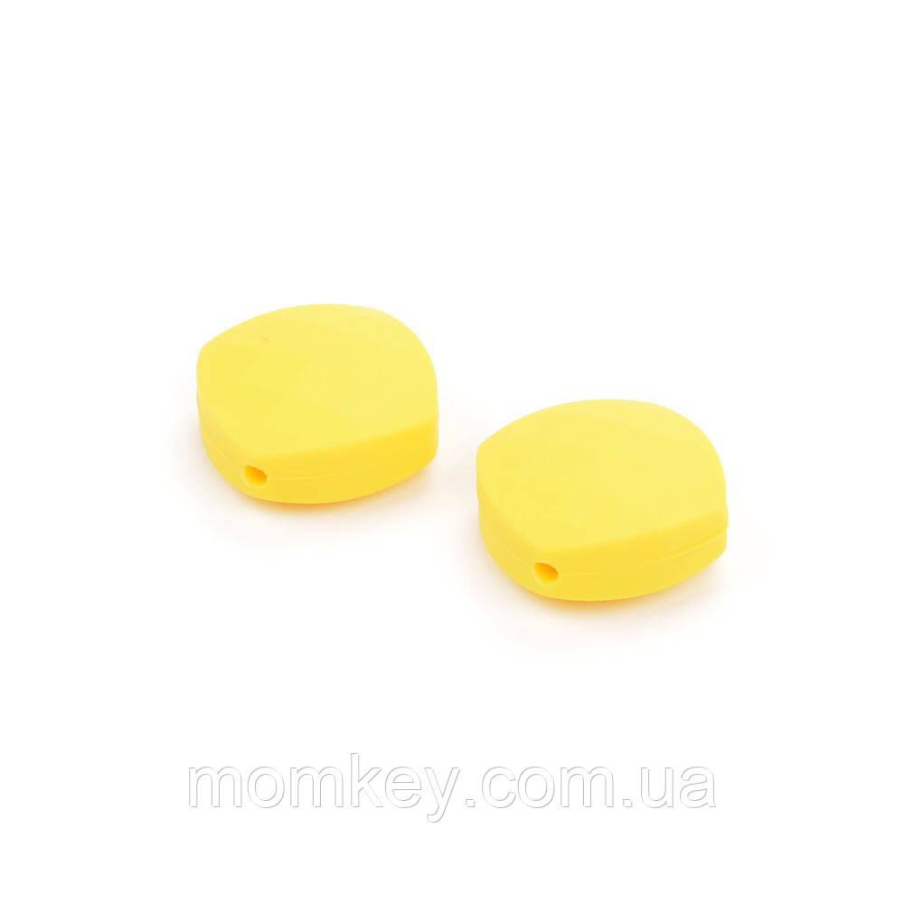 Чотирикутник 21*21*10 мм (жовтий)