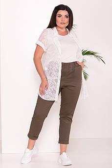 Летняя блуза большого размера Аланья-3 с майкой